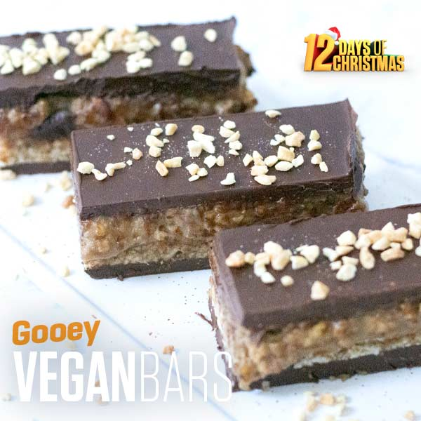 12 Days of Christmas - Gooey Vegan Bars