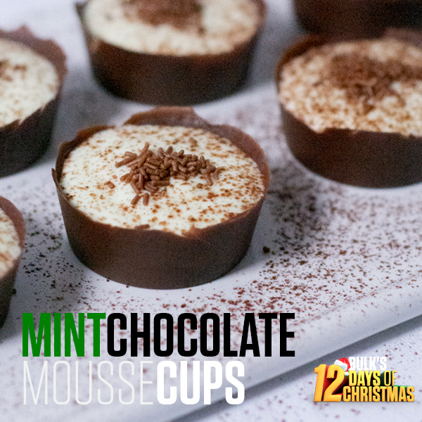 Mint Chocolate Mousse Cups