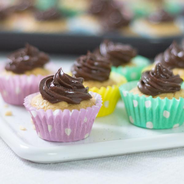Mini Choc Peanut Butter Cupcakes