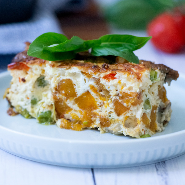 Quick and Easy High Protein Veggie Frittata