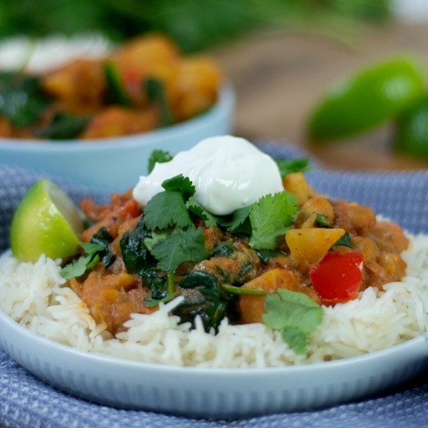 Yellow Chickpea Curry