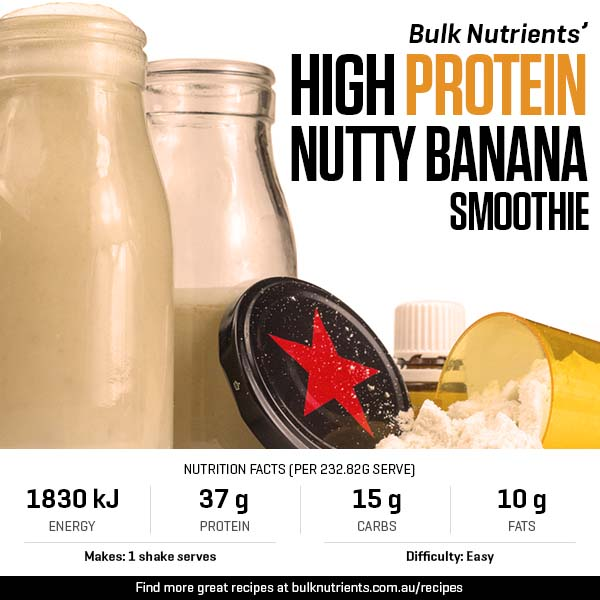A High Protein, Nutty Banana Smoothie
