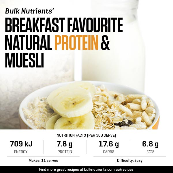 A new breakfast favourite - Natural protein muesli