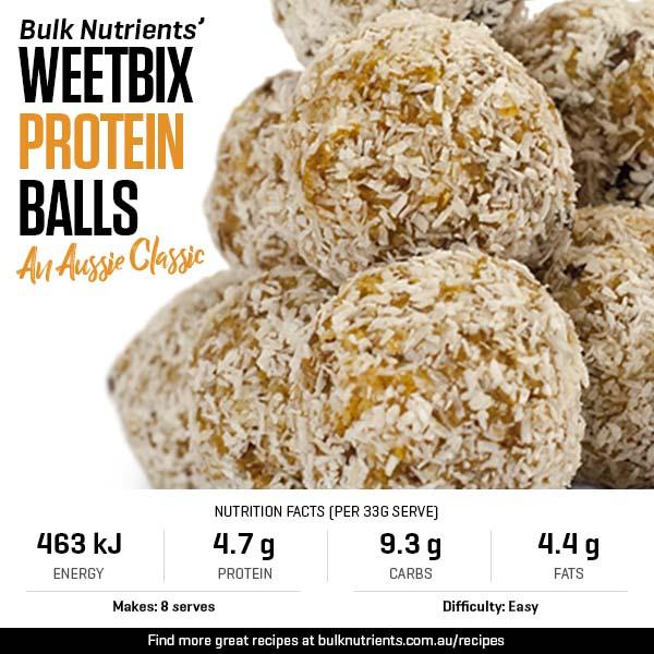 An Aussie Classic - Weetbix Protein Balls