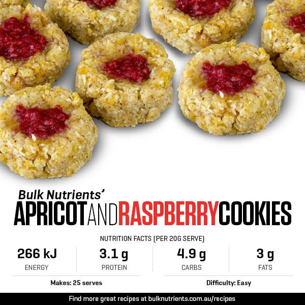 Apricot And Raspberry Cookies