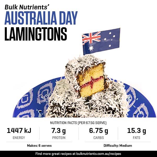 Australia Day Lamingtons