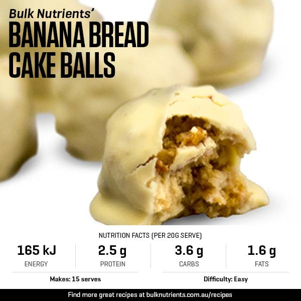 Banana Bread Cake Balls