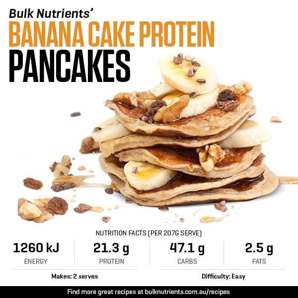 Banana Cake Protein Pancakes