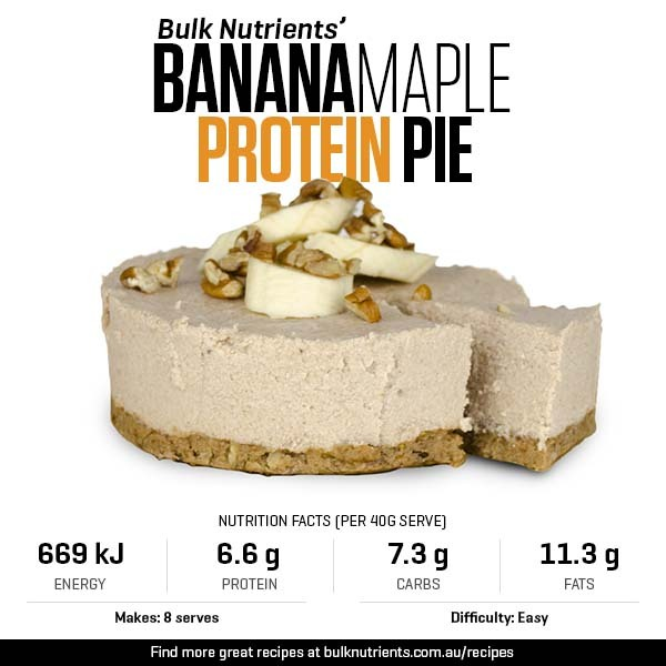 12 Days of Christmas - Banana Maple Protein Pie