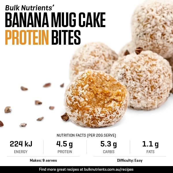 Banana Mug Cake Protein Bites
