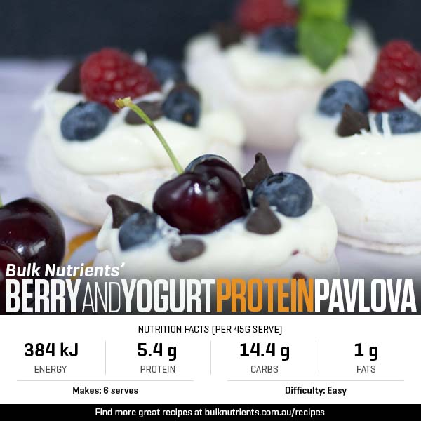 Berry And Yogurt Protein Pavlovas