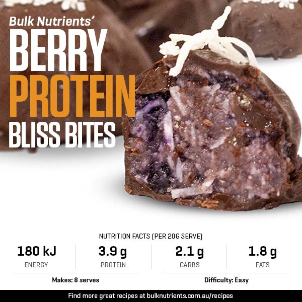 Berry Protein Bliss Bites