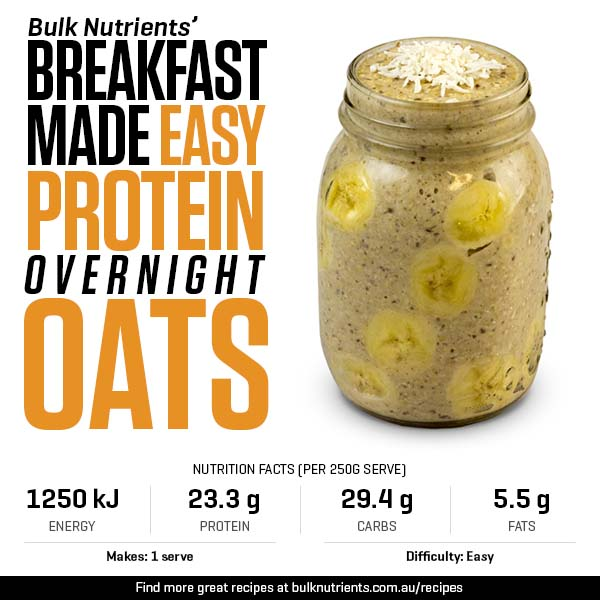Breakfast Made Easy - Protein Overnight Oats