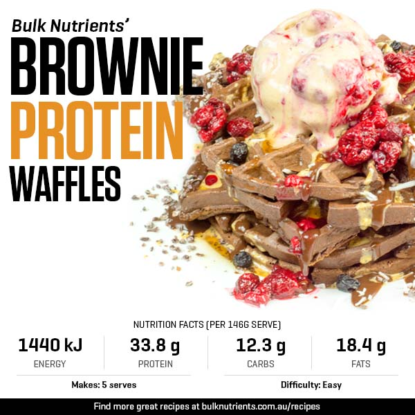 Brownie Protein Waffles