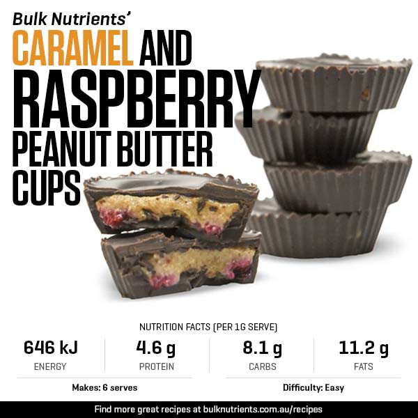 Caramel and Raspberry Peanut Butter Cups