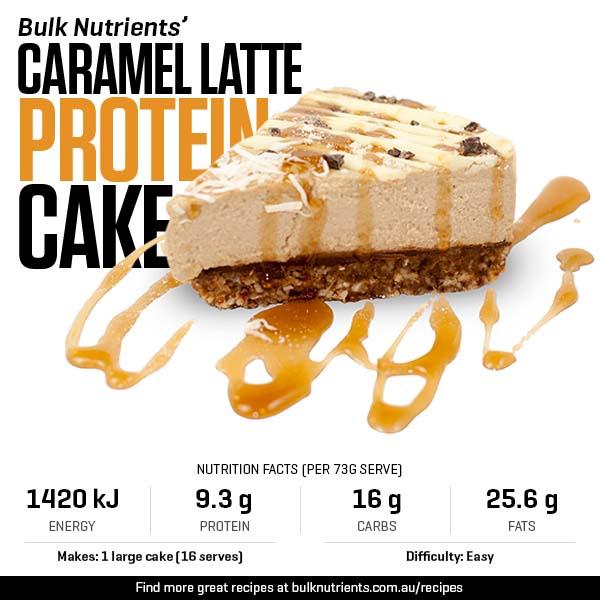 Caramel Latte Protein Cake