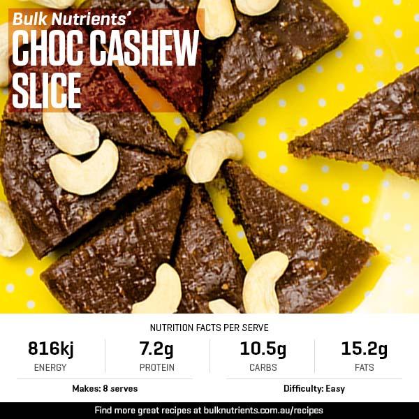 Choc Cashew Slice
