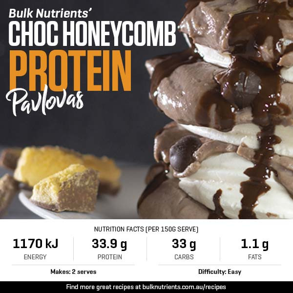 12 Days of Christmas - Choc Honeycomb Protein Pavlovas