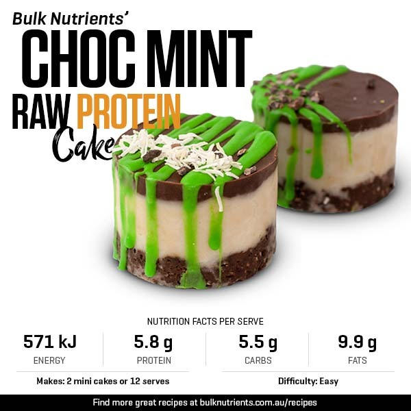 Choc Mint Raw Protein Cake