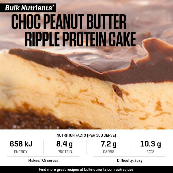 Choc Peanut Butter Ripple Protein Cake
