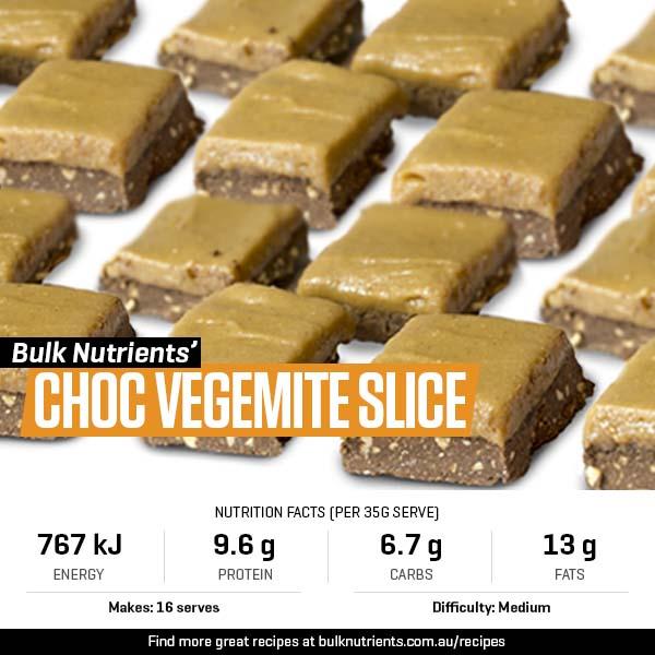 Choc Vegemite Slice