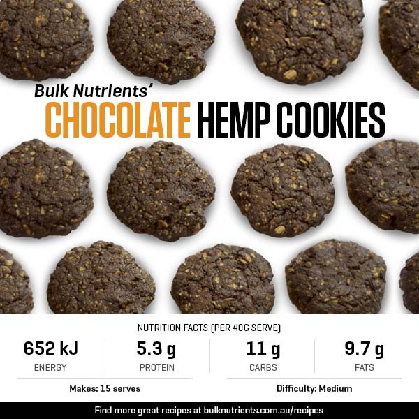 Chocolate Hemp Cookies