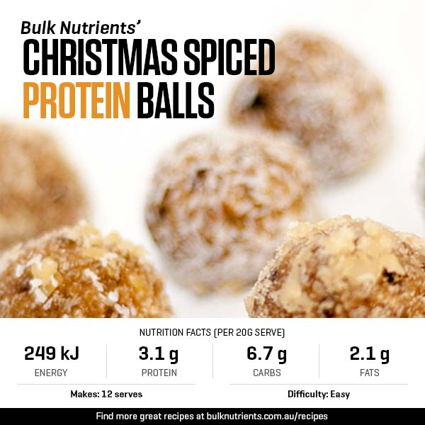 Christmas Spiced Protein Balls