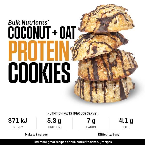 Coconut Oat Protein Cookies