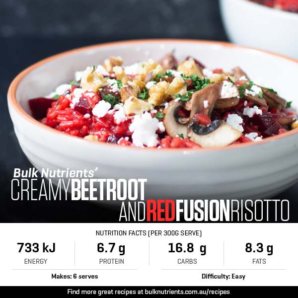 Creamy Beetroot And Red Fusion Risotto