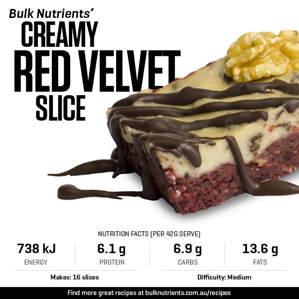 Creamy Red Velvet Slice
