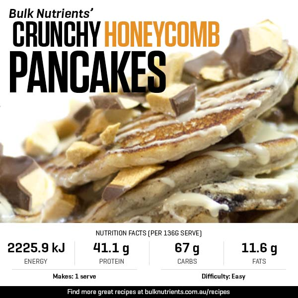 12 Days Of Christmas - Crunchy Honeycomb Pancakes