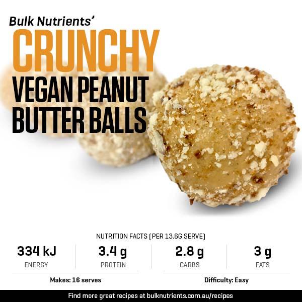 Crunchy Vegan Peanut Butter Balls