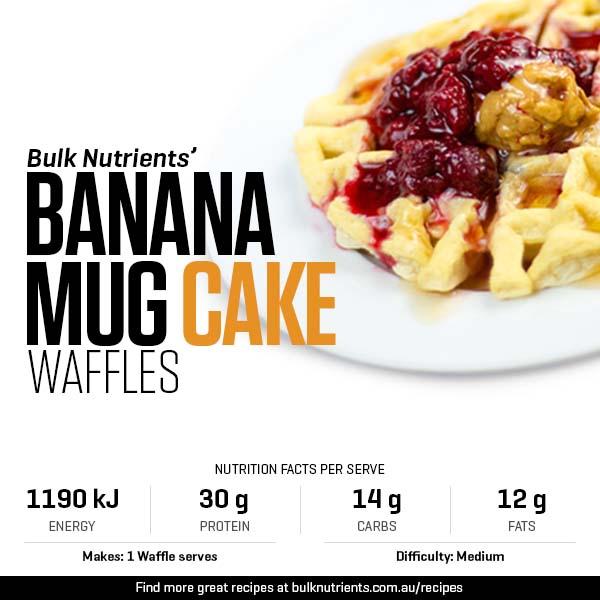 Decadant Banana Mug Cake Waffles