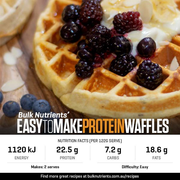 Easy To Make Protein Waffles