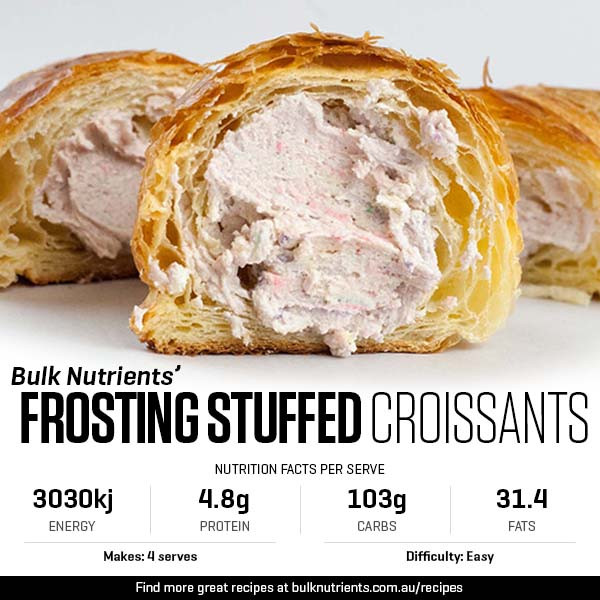 Frosting Stuffed Croissants