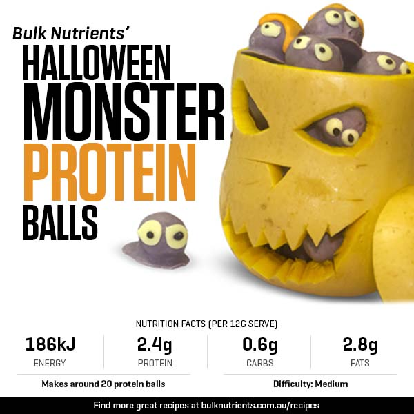 Halloween Monster Protein Balls