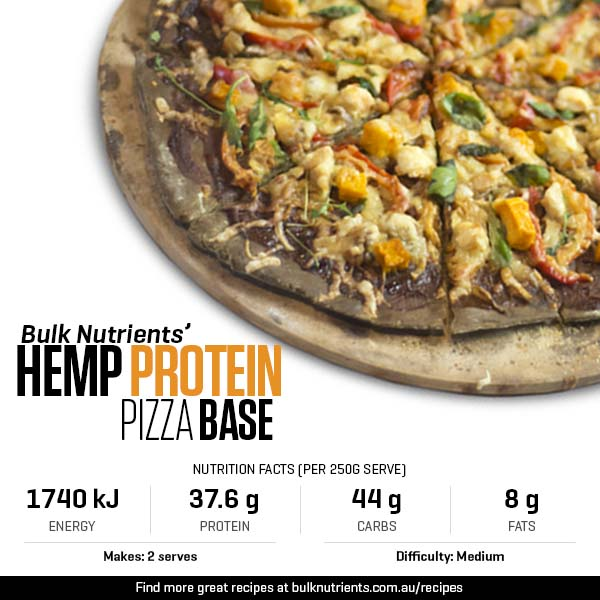 Hemp Protein Pizza Base