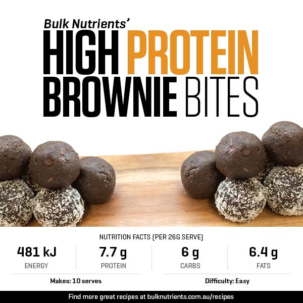 High Protein Brownie Bites