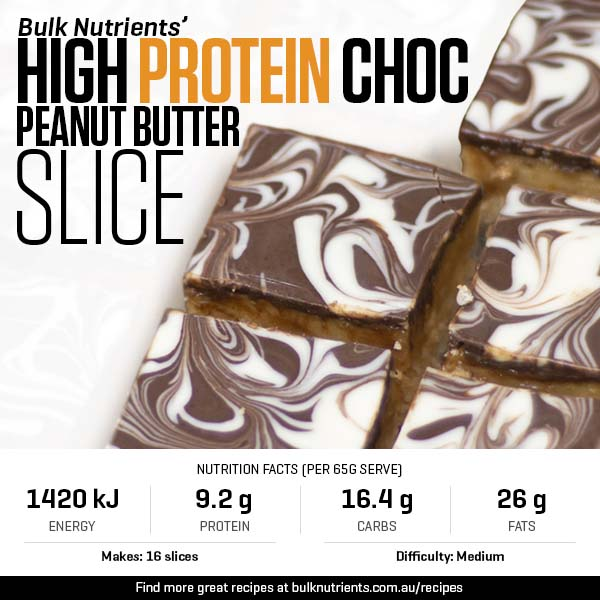 High Protein Choc Peanut Butter Slice