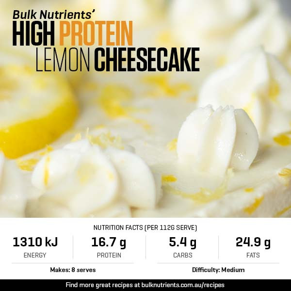 High Protein Lemon Cheesecake