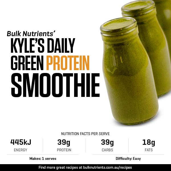 Kyle's Daily Green Protein Smoothie