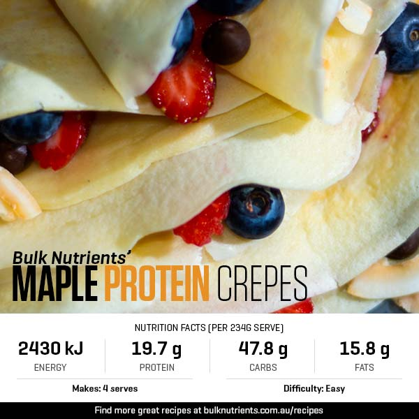 12 Days of Christmas - Maple Protein Crepes