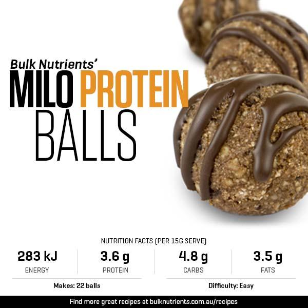 Milo Protein Balls