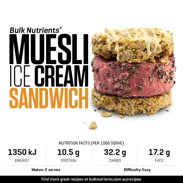 Muesli Ice Cream Sandwich
