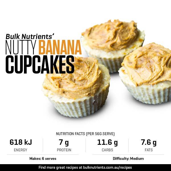 Nutty Banana Cupcakes