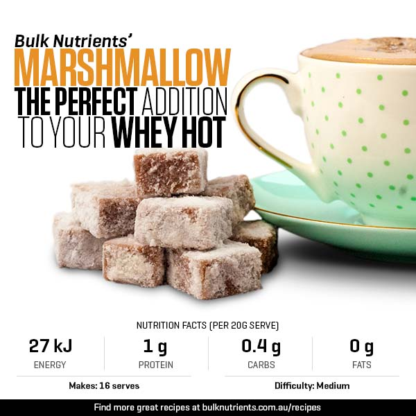 Our marshmallow - The perfect addition to your Whey Hot