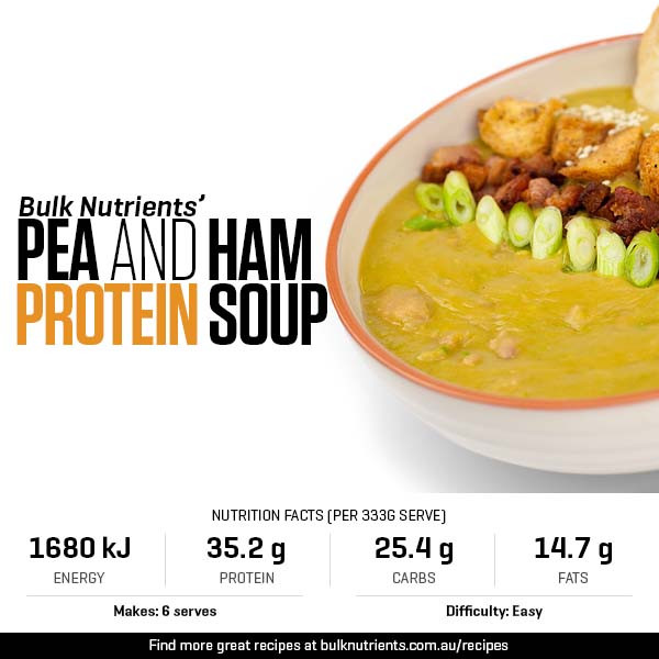 Pea and Ham Protein Soup