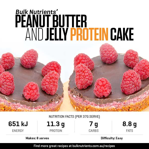 Peanut Butter And Jelly Protein Cake