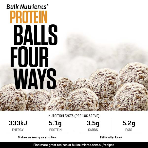 Protein Balls Done Four Ways