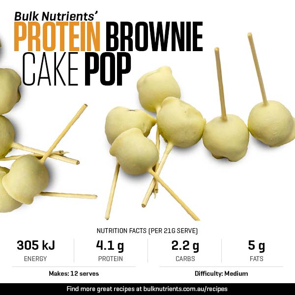 Protein Brownie Cake Pop